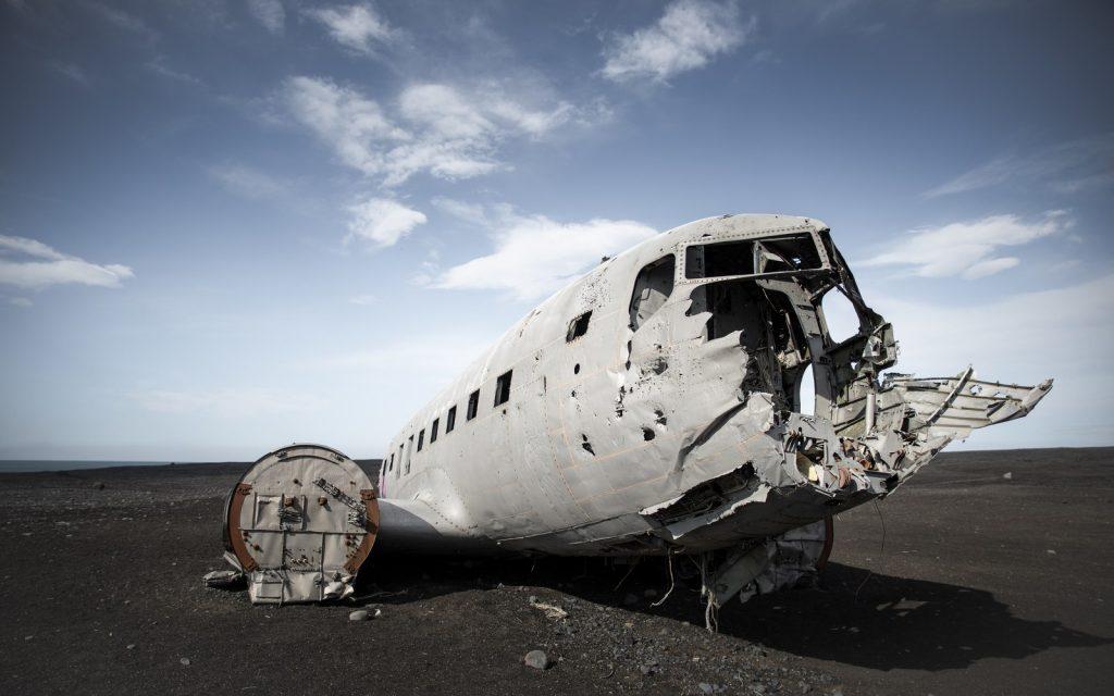 Carcasse de l'avion Islande