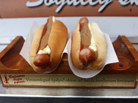 hot dog de chez Baejarins Beztu Pylsur