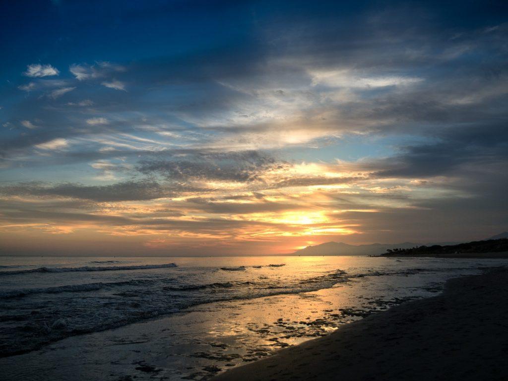 sunset malaga